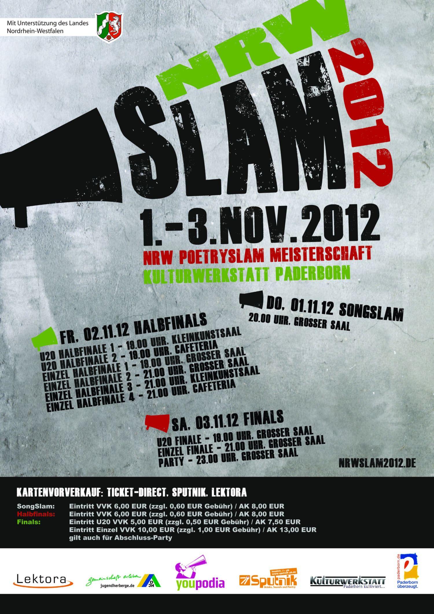 ... Plakat NRW Slam 2012 in voller Größe öffnen